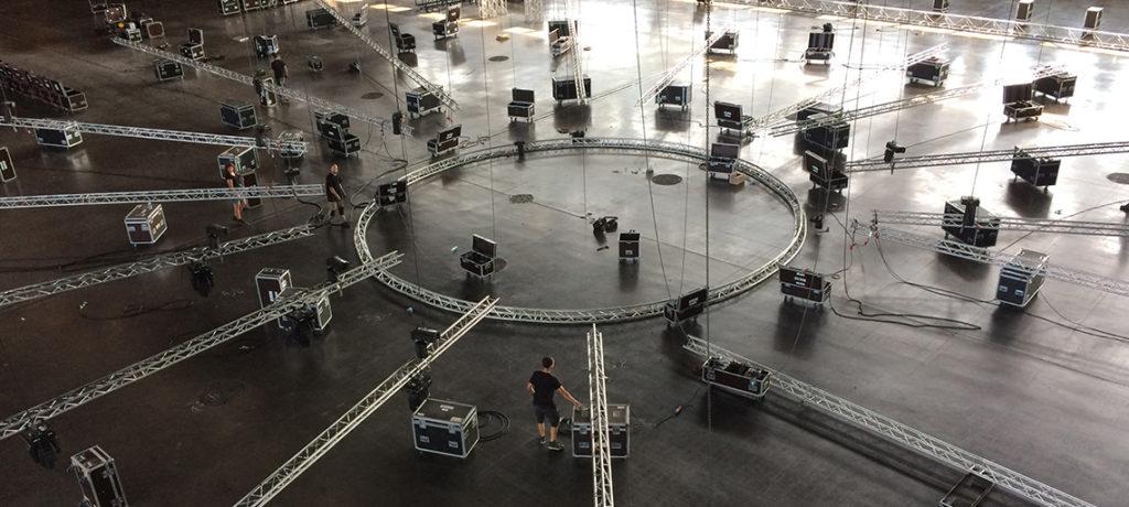 Scène structure salle concert