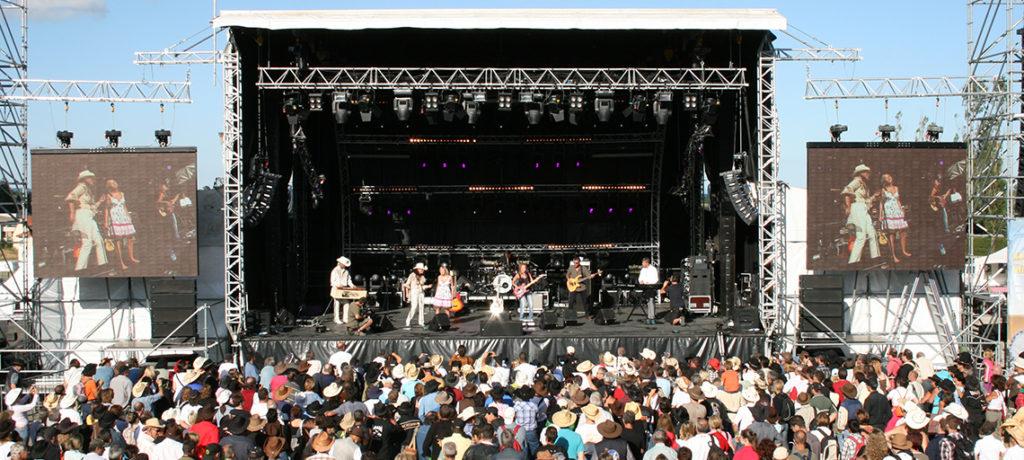 Sonorisation professionnel de concert et de festival